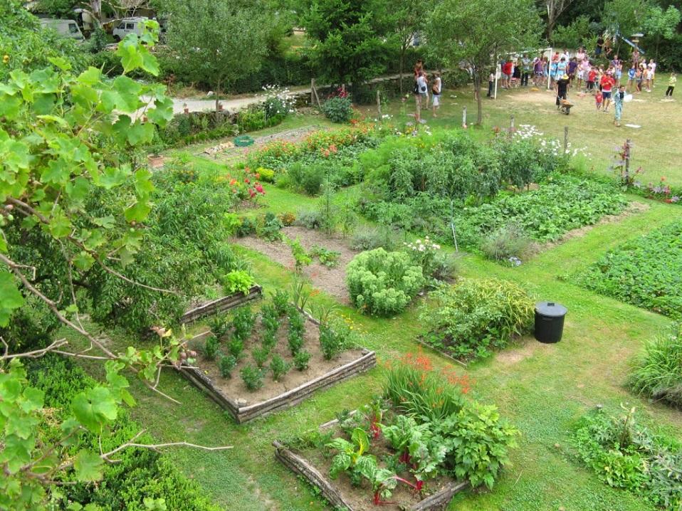 Le jardin vu du balcon